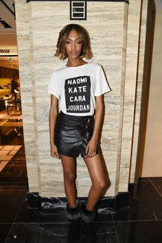 Jourdan Dunn closed fashion week by paying tribute to her fellow supermodels in a Missguided slogan tee, and we've hunted it down. Harrods, London Fashion Weeks, Street Style Trends, Steam Punk, Manolo Blahnik, Festivals, Grunge, Jourdan Dunn, Vogue