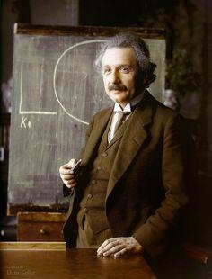 Theoretical physicist Albert Einstein, 1921 Colourized by Klassixx