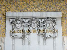 Detail of the front of the Secession Building, Vienna - Truus, Bob