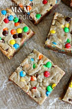 Peanut Butter M&M ½ cup (1 stick) unsalted butter, melted 1 cup light brown sugar 1 large egg 1 teaspoon vanilla extract ½ cup peanut butter ¼ teaspoon salt 1 cup all-purpose flour 1½ cups of M&M's