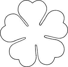 Flower Love five petal template by BAJ - A flower template for a five petal flower with heart shaped petals. Poppy Template, Flower Petal Template, Heart Template, Flower Tutorial, Crown Template, Butterfly Template, Giant Paper Flowers, Felt Flowers, Fabric Flowers