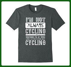 Mens I'm not always Cycling - Funny Bike T Shirt  Medium Dark Heather - Sports shirts (*Amazon Partner-Link)