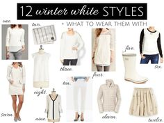 We've heard it all before — no white after Labor Day — but winter white styles are always popular, no matter what the fashion calendar says!