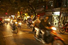 Motorbikes in Hanoi, Vietnam! Check out the UBELONG travel opportunities to get there now. #VietnamTravel