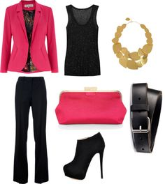 """""""Pink Girls Night Out Outfit"""" by marissa-anne-weddle on Polyvore"""