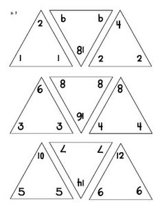 free triangle flash cards addition subtraction multiplication division and blank cards too. Black Bedroom Furniture Sets. Home Design Ideas