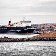 Ferry MS Hammerodde in the Harbour of Rønne, Bornholm. #ferry #hammerodde #harbour #port #rønne #bornholm #denmark #danmark #dänemark