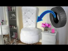 Glamorous Upholstered sofa chair from Tyre.DIY furniture for cheap. - YouTube