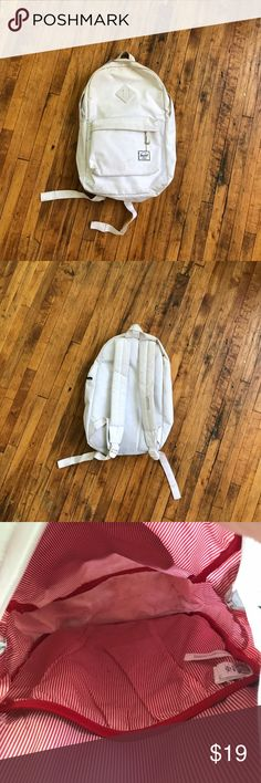 HERSCHEL SUPPLY HERITAGE BACKPACK Selling AS IS. Honestly if you put it thru the wash it should clean up a lot. Open to offers Herschel Supply Company Bags Backpacks
