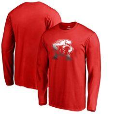 Maryland Terrapins Fanatics Branded Gradient Logo Long Sleeve T-Shirt - Red - $29.99