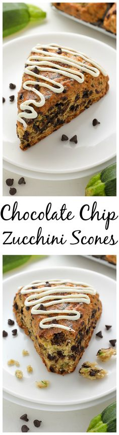 Chocolate Chip Zucchini Scones - Baker by Nature