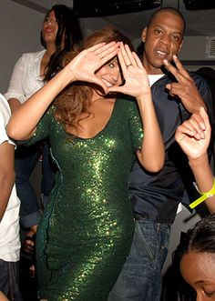 Bey threw up the diamond hand sign at after party following Jay Z's concert at London's Royal Albert Hall in September 2006.