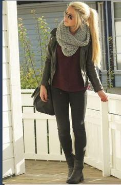 circle scarf outfit - Buscar con Google