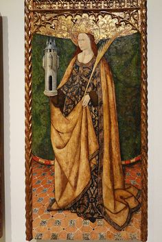Statues, Saint Barbara, Medieval Dress, Christian Art, Illuminated Manuscript, Religious Art, Art History, Renaissance, Tarot