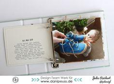 """Project Life Minialbum 4x4"""" Babyalbum von Julia R. für www.danipeuss.de #projectlife #danipeuss #scrapbooking #baby #minialbum"""