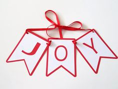 Joy BannerChristmas BannerRed and White BannerJoy by ShopatLilys
