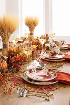 More than creating the best pumpkin pie and stuffing, family gatherings are about creating memories. So give your guests an atmosphere of bounty. A set of Pier 1 Asheville Leaves Dinnerware should do the trick with a delightful serving of richly colored leaves on glazed ironstone.