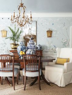 via dering hall - Chinoiserie wallpaper - m.and.m.interior.design.portfolio.interiors.dining room