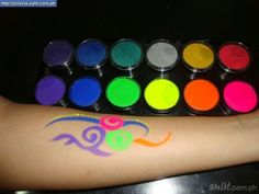 Glow in the Dark Party Ideas for Teenagers | glow in dark face paint designs image search results great for meeeeeeeee!!!!