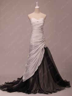 Colored Wedding Dress Ava Bridal--Although I would rather the black be silver or champagne, but otherwise this is cool!