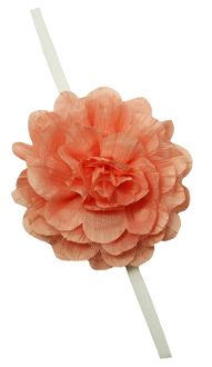 Chiffon and Tulle Fabric Flower with Elastic Headband Skinny Headbands, Elastic Headbands, Tulle Fabric, Fabric Flowers, Stylish Dresses, Chiffon, Coral, Princess, Fashion
