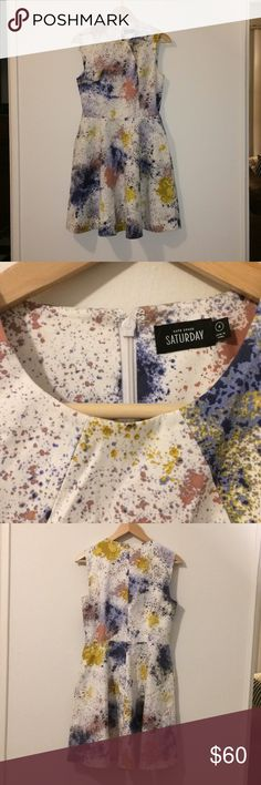Kate spade dress Artsy colorful and paint splattered dress kate spade Dresses Midi