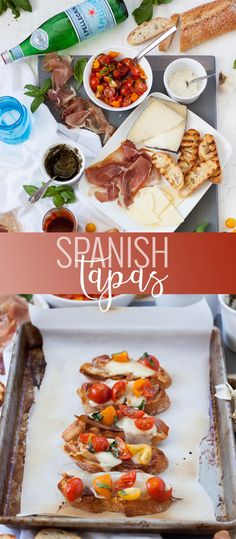 Spanish Tapas with Serrano Ham and Manchego Cheese - Ladonna's Tapas Party - Cuisine Manchego Cheese Recipes, Queso Manchego, Tapas Dinner, Tapas Party, Tapas Recipes, Healthy Recipes, Spanish Recipes, Tapas Ideas, Party Recipes