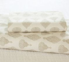 Kingston Bhotah Organic Sheet Set at Pottery Barn  $99 for Queen