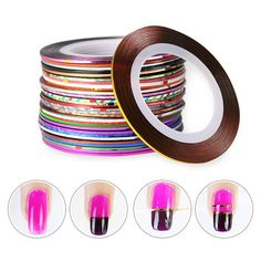 1 Pack 30 Styles Professional Rolls Striping Tape Line Colorful Nail Art Sticker…