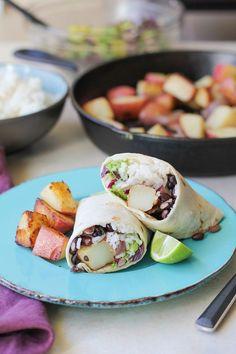 Vegan Breakfast Burritos + Cookbook Review & Giveaway