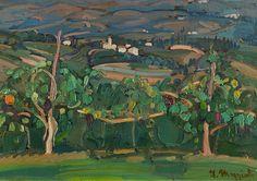 "lilithsplace: "" 'Asolo landscape', 1914-15 – Umberto Moggioli (1886–1919) """