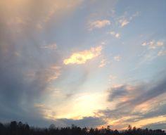 NC beautiful evening skies February 2014