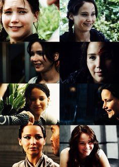 When Katniss smiles.>>>>>>>. they missed the part on the train when peeta asks what her favorite colour is