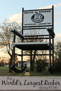 The World's Largest Rocking Chair is located along historic Route 66 in Cuba, Missouri.