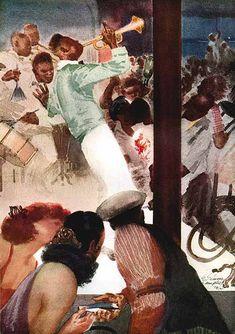 Elmer Simms Campbell (January 1906 – January American cartoonist -Esquire, The Blues Black History, Art History, George Lee, Harem Girl, Watercolor Art Diy, New Yorker Cartoons, Famous Black, Print Magazine, African American Art