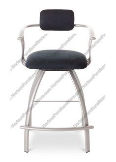 Amisco Kris Upholstered Back Swivel Stool 40494