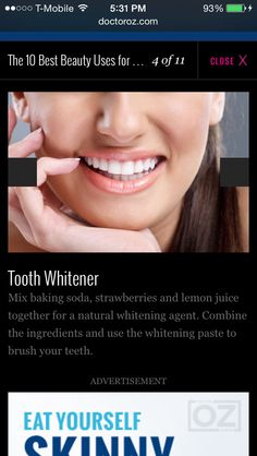 Tooth whitner