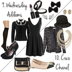 Top 10 Last-Minute DIY Costume Ideas Using Your Favorite LBD! Wednesday Addams and Coco Chanel