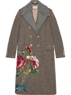 Gucci пальто с вышивкой паейтками