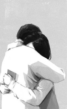 ♡Couple sweet embrace Illustration Daily Life Monochrome Illustrations by Mihoko Takata – Fubiz Media Cute Couple Art, Anime Love Couple, Cute Couples, Romantic Anime Couples, Couple Cartoon, Comics Illustration, Couple Illustration, Animal Illustrations, Fantasy Illustration