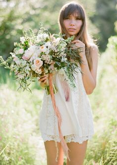 This gorgeous wedding #bouquet would be perfect for an outdoor #spring #wedding.