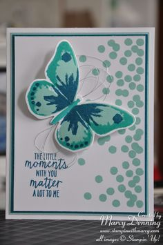 Another beautiful card using Watercolor Wings from Stampin Up.