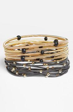 stretch coil bangles