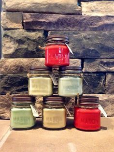 Rustic Mason Jar Soy Candle ~ Clean Burning, Natural Soy, Hand Crafted, 8 oz on Etsy, $8.00
