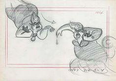 Storyboard of the scene where Ursula turns herself into Vanessa.