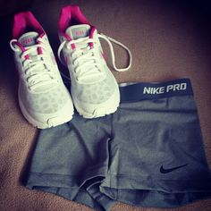 Gonna be wearing my Nike Pro shorts layered over, a pair of capri light weight yoga pants. A cute and comfy pairing.