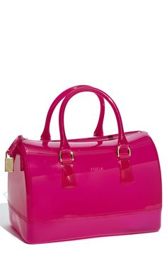 Furla 'Candy' Rubber Satchel $228