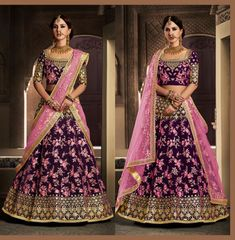 This is an Indian bollywood Pakistani wedding and party wear designer lehenga choli. lehenga crafted in dupion silk with designer blouse and dupatta. clear neat embroidery done to achieve pure designer look. Lehenga Choli Wedding, Indian Bridal Lehenga, Bridal Lehenga Choli, Indian Sarees, Dress Indian Style, Indian Dresses, Indian Outfits, Indian Clothes, Ethnic Fashion