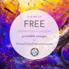 "We hope this collection FREE inspiration and wisdom printable images will encourage you. You are free to use these images as long as you do not sell them, alter them, or remove our ""HomeSchoolAdventure.com"" watermark."