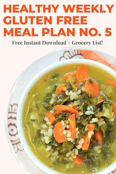 Make meal time easy with this Healthy Weekly Meal Plan + Grocery List. Free instant PDF download! You get 5 dinner recipes, 1 breakfast, 1 snack, and 1 healthy treat. All recipes are gluten free. Visit EA Stewart, The Spicy RD at www.eastewart.com to get this weeks meal plan! Gluten Free Meal Plan, Gluten Free Recipes For Dinner, Dinner Recipes, Healthy Weekly Meal Plan, Easy Meal Prep, Healthy Treats, Easy Healthy Recipes, Salmon Breakfast, Meal Plan Grocery List